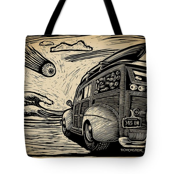 Surf's Up Tote Bag by Bomonster