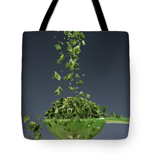 1 Tablespoon Chives Tote Bag by Steve Gadomski