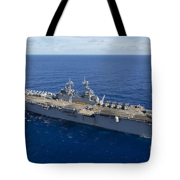 The Amphibious Assault Ship Uss Boxer Tote Bag by Stocktrek Images