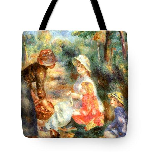 The Apple Seller Tote Bag by Pierre-Auguste Renoir