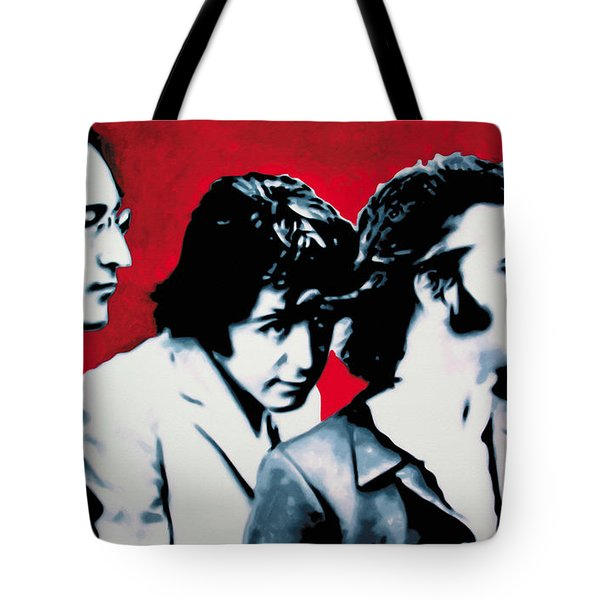 The Beatles Tote Bag by Luis Ludzska