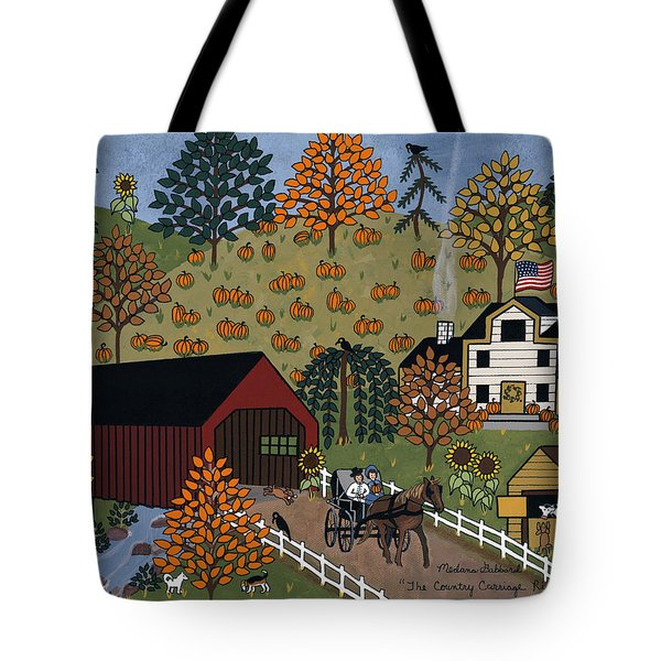The Country Carriage Ride Tote Bag by Medana Gabbard