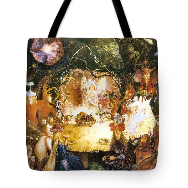 The Fairies Banquet Tote Bag by John Anster Fitzgerald