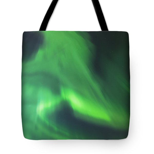 The Green Northern Lights Corona Tote Bag by Kevin Smith