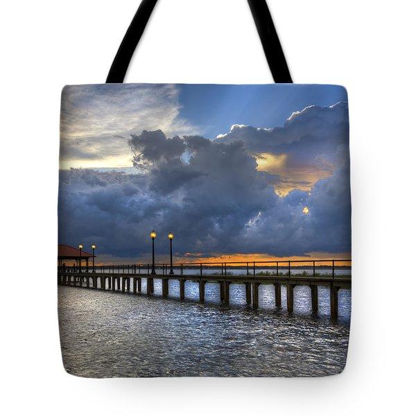The Pier Tote Bag by Debra and Dave Vanderlaan