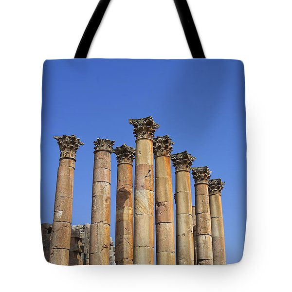 The Temple Of Artemis At Jerash Jordan Tote Bag by Robert Preston