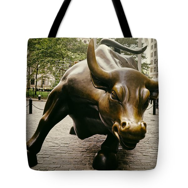 The Wall Street Bull Tote Bag by Mountain Dreams