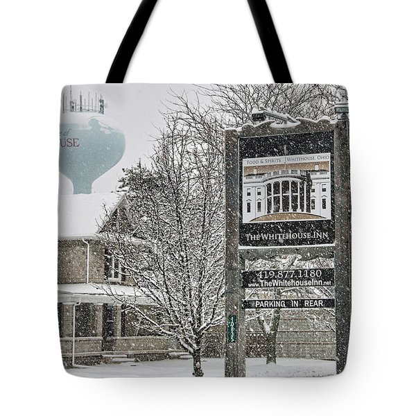 The Whitehouse Inn Sign 7034 Tote Bag by Jack Schultz