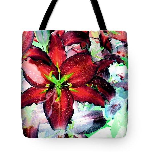Tiger Lilies Tote Bag by Annie Zeno