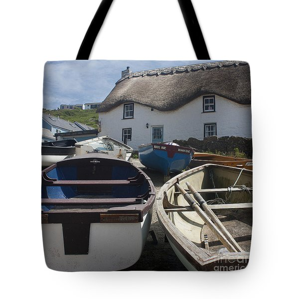 Tinker Taylor Cottage Sennen Cove Cornwall Tote Bag by Terri Waters