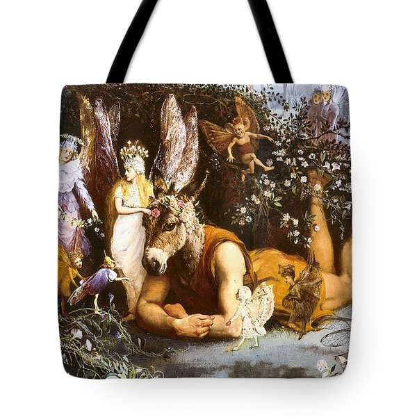 Titania And Bottom Tote Bag by John Anster Fitzgerald