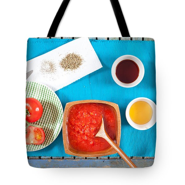 Tomatoes And Onions Tote Bag by Tom Gowanlock