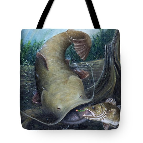Top Dog Tote Bag by Catfish Lawrence