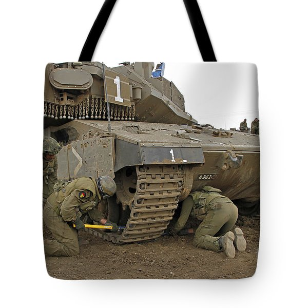 Track Replacement On A Israel Defense Tote Bag by Ofer Zidon