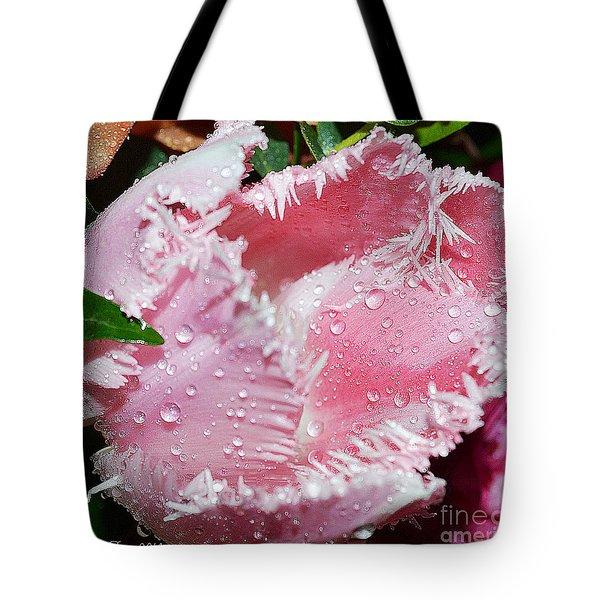 Tulip lace Tote Bag by Felicia Tica