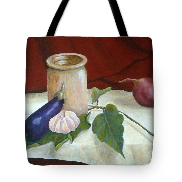 Tuscan Table Tote Bag by Pamela Allegretto