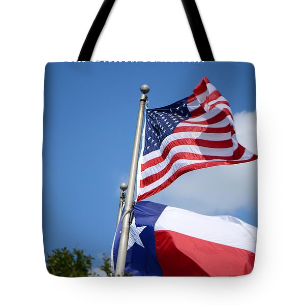 God Has Blessed America Tote Bag by Connie Fox