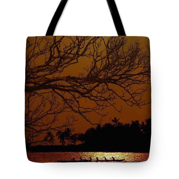 Under The Sunset Tote Bag by Athala Carole Bruckner