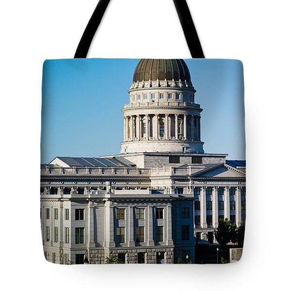 Utah State Capitol Building, Salt Lake Tote Bag by Panoramic Images