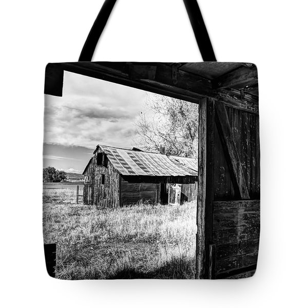 View From the Barn Tote Bag by Mountain Dreams