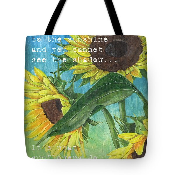 Vince's Sunflowers 1 Tote Bag by Debbie DeWitt