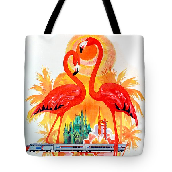 Vintage Florida Travel Poster Tote Bag by Jon Neidert