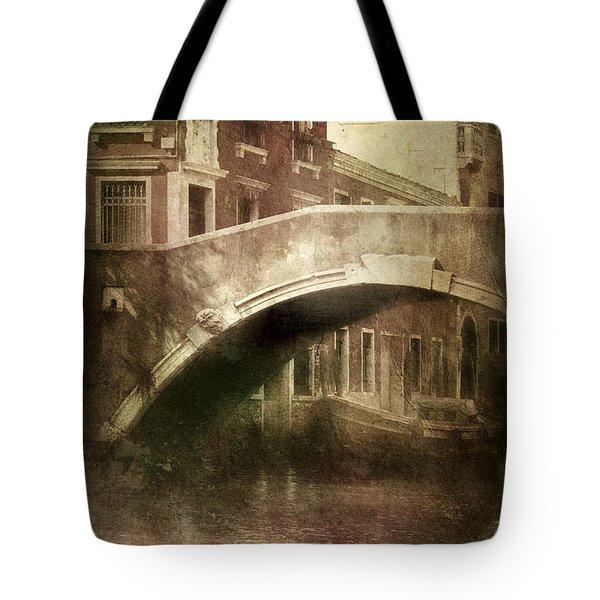 Vintage Shot Of Venetian Canal, Venice Tote Bag by Evgeny Kuklev