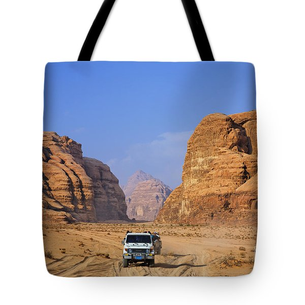 Wadi Rum In Jordan Tote Bag by Robert Preston