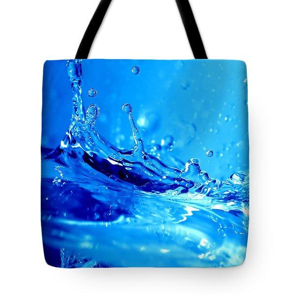 Water splash Tote Bag by Michal Bednarek