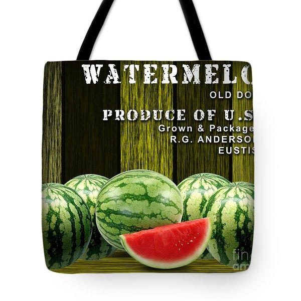 Watermelon Farm Tote Bag by Marvin Blaine
