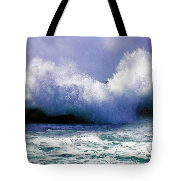 Wild Waves In Cornwall Tote Bag by Terri  Waters