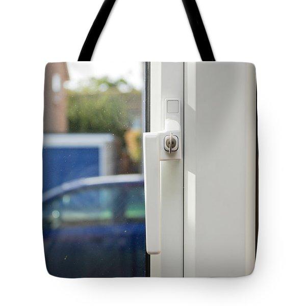 Window lock Tote Bag by Tom Gowanlock