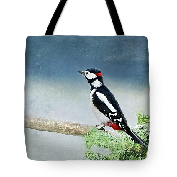 Woodpecker Tote Bag by Heike Hultsch