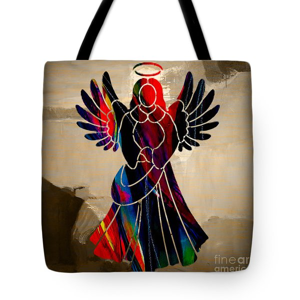 Angel Tote Bag by Marvin Blaine