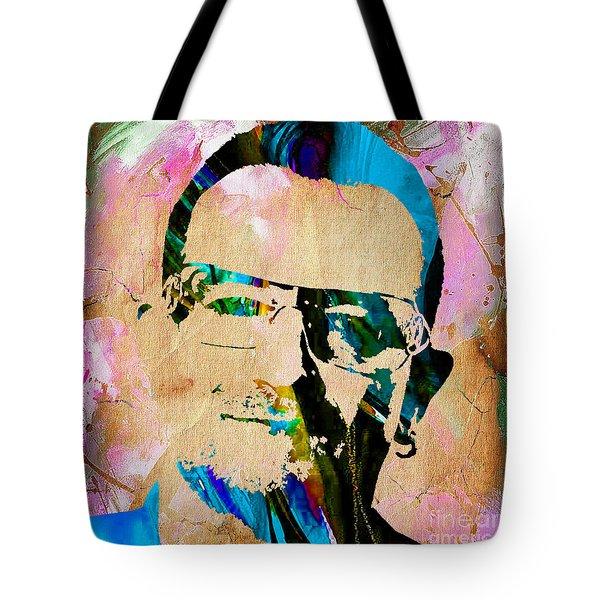 Bono U2 Tote Bag by Marvin Blaine