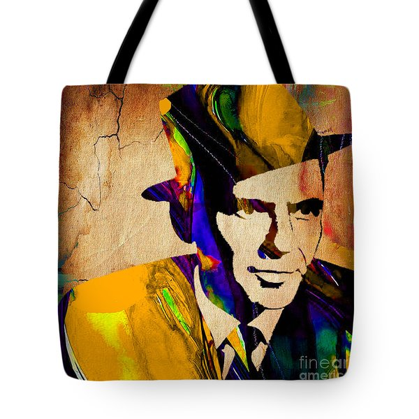 Frank Sinatra Tote Bag by Marvin Blaine