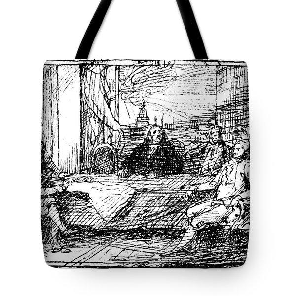 Treaty Of Paris, 1783 Tote Bag by Granger