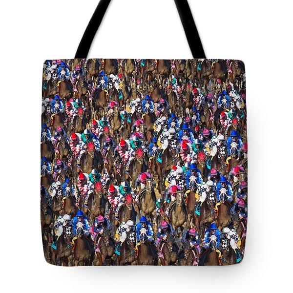 1000 Horses Tote Bag by Betsy C Knapp