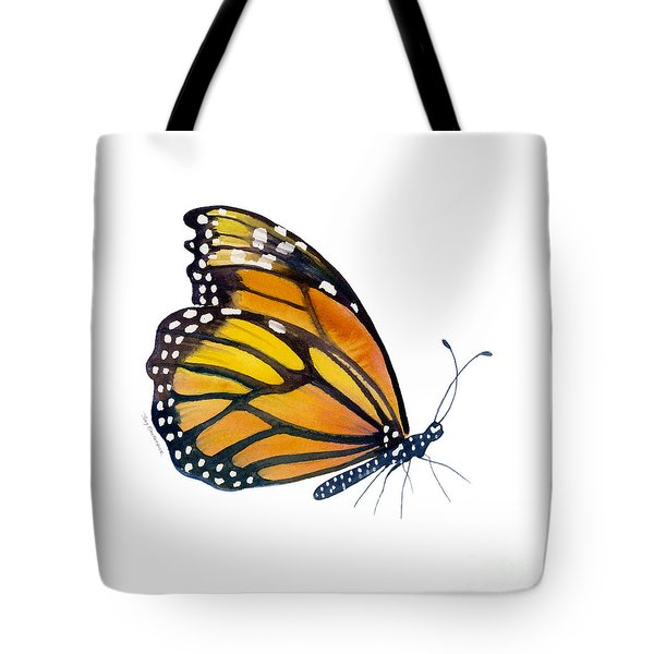 103 Perched Monarch Butterfly Tote Bag by Amy Kirkpatrick