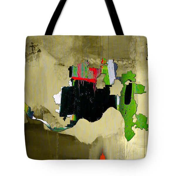 Cincinnati Map And Skyline Watercolor Tote Bag by Marvin Blaine