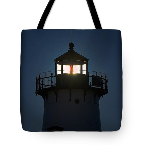 Edgartown Lighthouse Tote Bag by John Greim