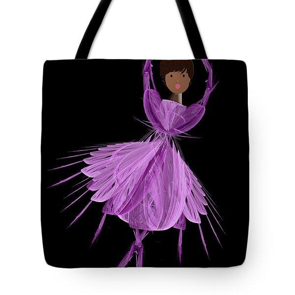 11 Purple Ballerina Tote Bag by Andee Design