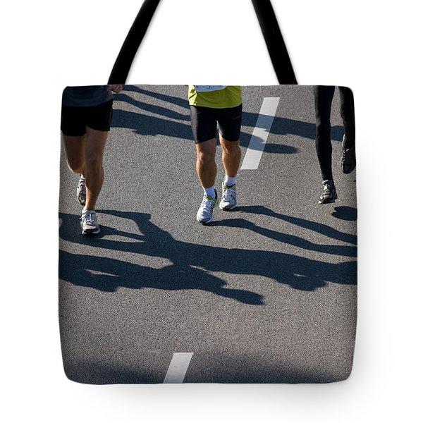 11th Poznan Marathon Tote Bag by Michal Bednarek