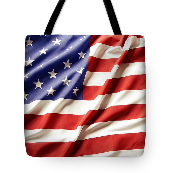 American flag Tote Bag by Les Cunliffe