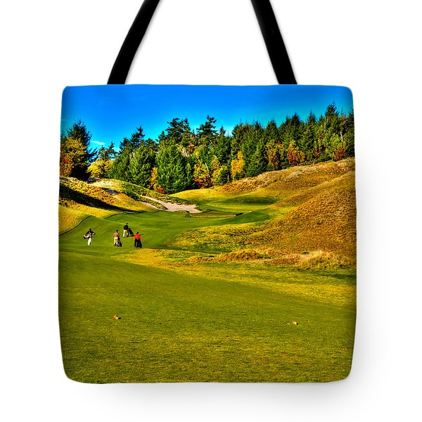 #12 at Chambers Bay Golf Course - Location of the 2015 U.S. Open Tournament Tote Bag by David Patterson