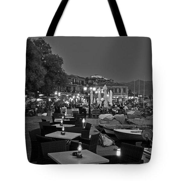 Molyvos Village Tote Bag by George Atsametakis