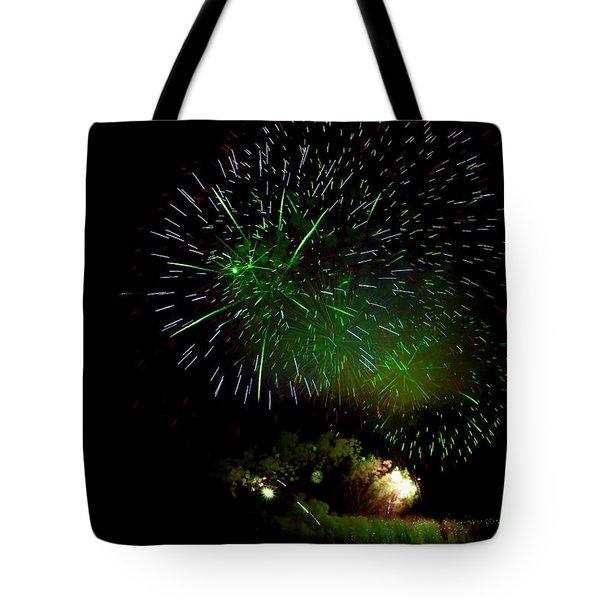 Fireworks Display Tote Bag by Michel Rathwell