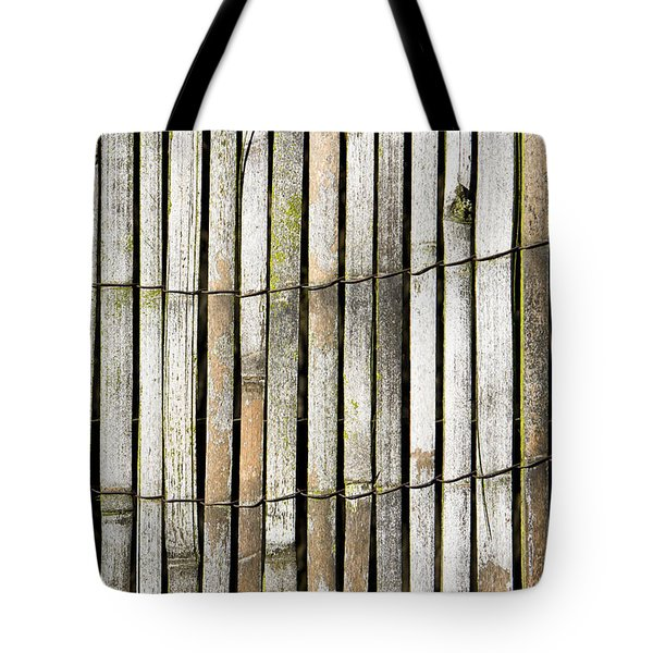 Wood background Tote Bag by Tom Gowanlock