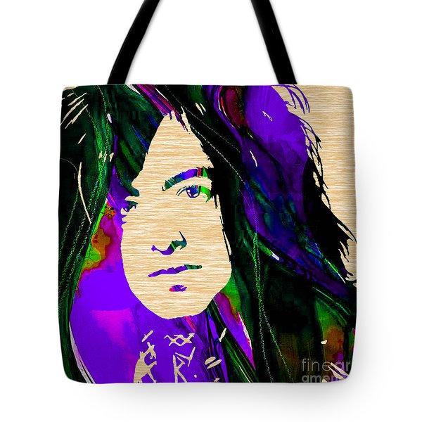 Jimmy Page Collection Tote Bag by Marvin Blaine