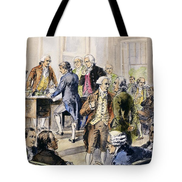 Declaration Of Independence Tote Bag by Granger